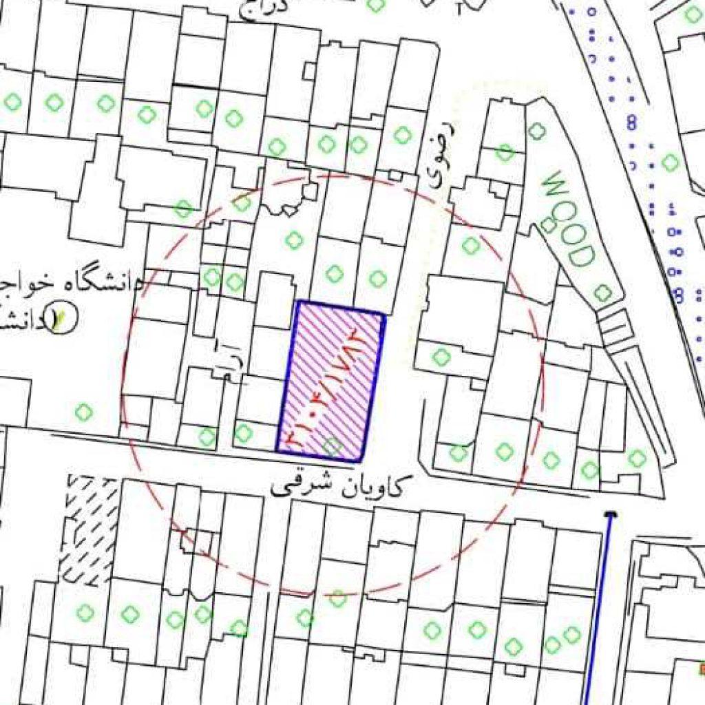 نقشه های 2000/1 هوایی جانمایی کرده
